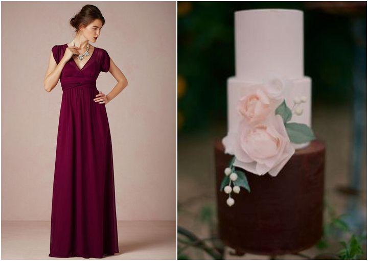 Burgundy and Blush Winter Wedding Inspiration