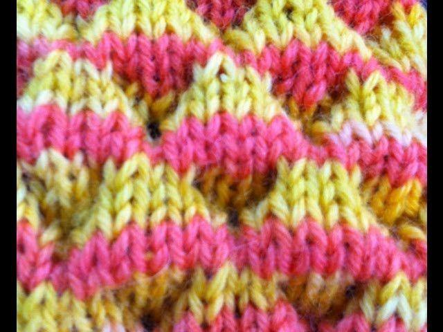 Knit Dimple Stitch aka Bubble Stitch