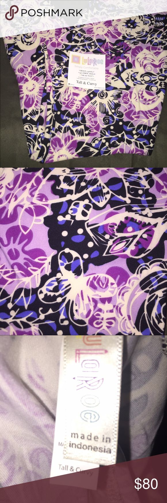 NWT LuLaRoe TC Purple/Black butterflies/flowers Brand new TC LuLaRoe leggings. Buttery soft, beautiful pattern. Colors are black, purples and a hint of blues. Flowers & Butterflies. Smoke free environment. PLEASE DONT BE SHY!! Submit an offer today, you may just end up with your unicorn LuLaRoe Pants Leggings