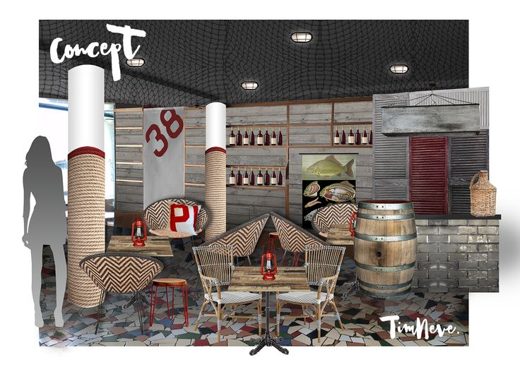 CONCEPT: Latest nautical-inspired functions room interior design at Beach Hotel, Newcastle by stylist Tim Neve
