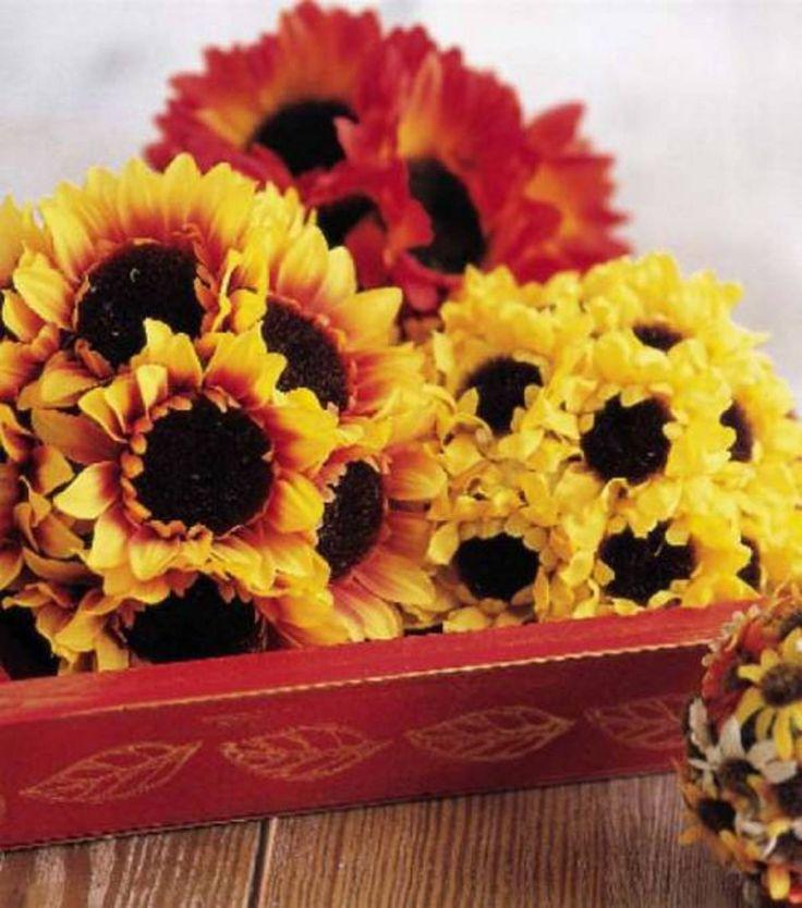 We love floral arrangements diy these sunflower pomander