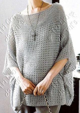 Simple Tunic - Free Crochet Diagram - (tricodatuka.blogspot)