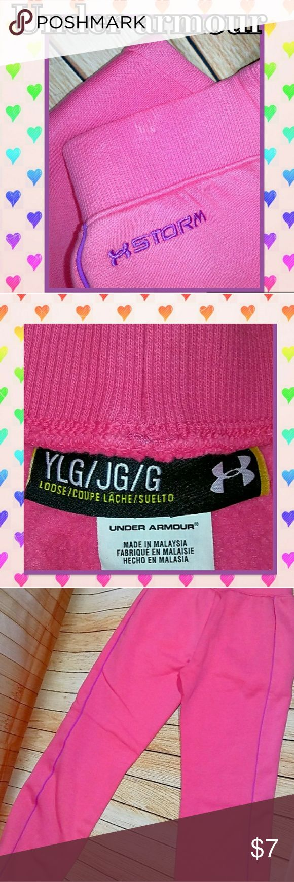 Under Armour Sweat Pants GUC~ The waist band has a very faint spot (shown in the first photo) that will most likely wash out~ Under Armour Bottoms Sweatpants & Joggers