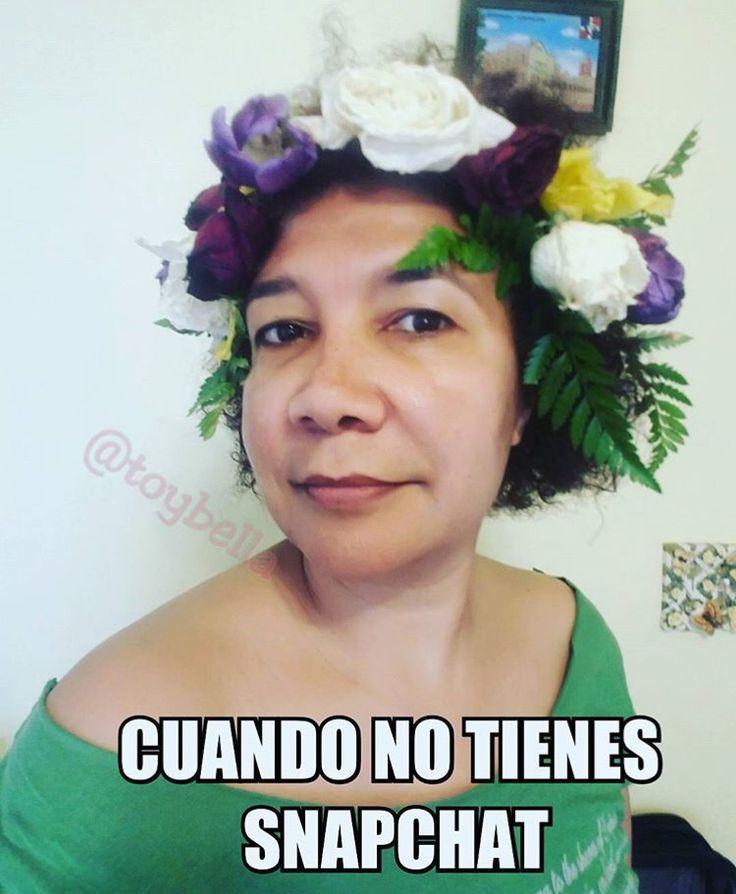 Jaja cuando no tienes snapchat pero quieres una foto con flores en la cabeza  #bitchplease #memes