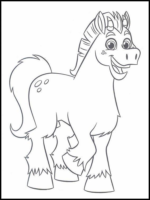 Dibujo De Nella Y El Unicornio Trinket Para Colorear