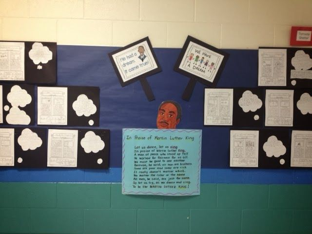 Martin Luther King Jr. newspaper activity. Pretend you are a reporter in the 1960's. Use informational text to create a newspaper and timeline. Then have students think of what in the world today they dream to fix? Cute bulletin board display!!!
