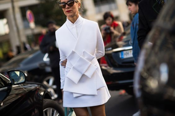 For a sleek workwear look, pleats have long been a fashionable favourite, and now, high-end brands like Dior and Prada have inspired an extension of the style. Folded, origami-like clothes are this season's smart update, with sharp angles and oversized twists adding structure to everyday pieces.