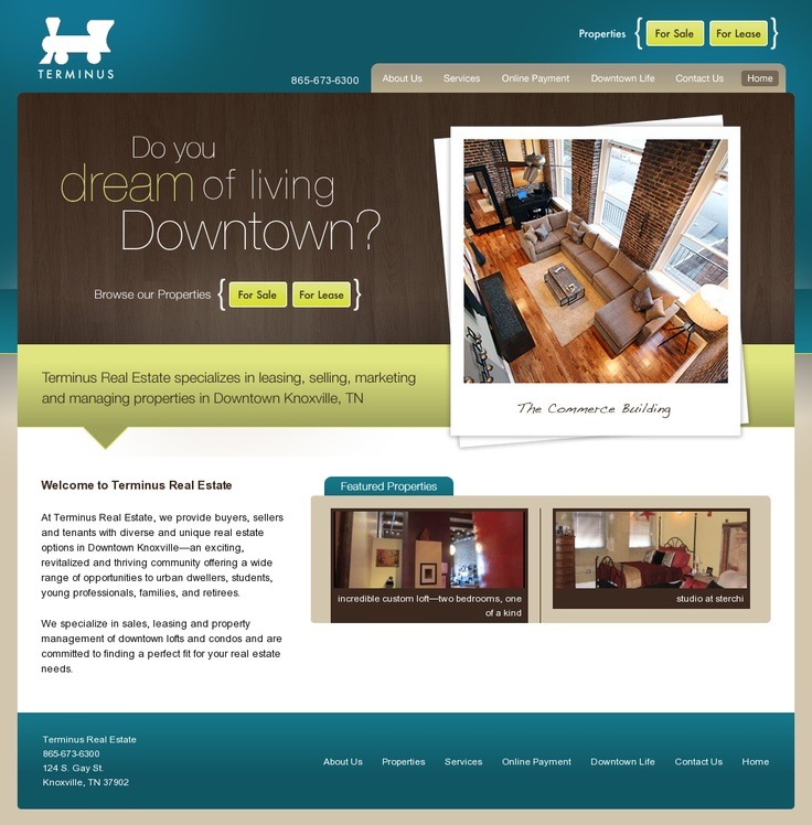 home web design. Terminus Real Estate  Website Design 68 best web design homes real estate images on Pinterest