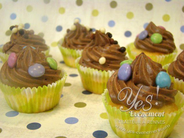 Délicieux Cup-cake au chocolat et smarties !