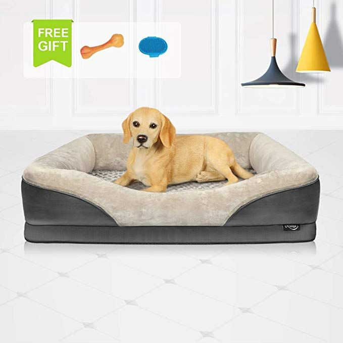 Niubya Large Orthopedic Dog Bed Waterproof Memory Foam Pet Bed With Removable Washable Cover Free Chewy T Orthopedic Dog Bed Memory Foam Pet Bed Foam Pet Bed