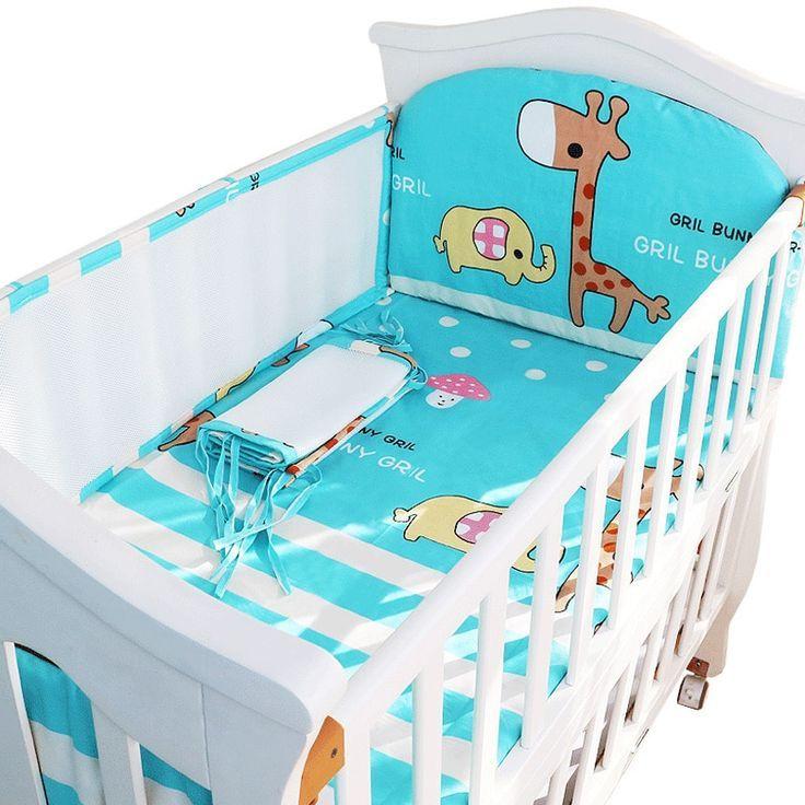 Cartoon Krippe Liner 3d Mesh Baumwolle Baby Bett Stoßstange Babybett