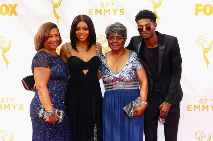 Pin for Later: 22 Ways Taraji P. Henson Won the Emmys Taraji brought along three dates — her mom, Bernice; her grandmother Patsy; and her son, Marcel.