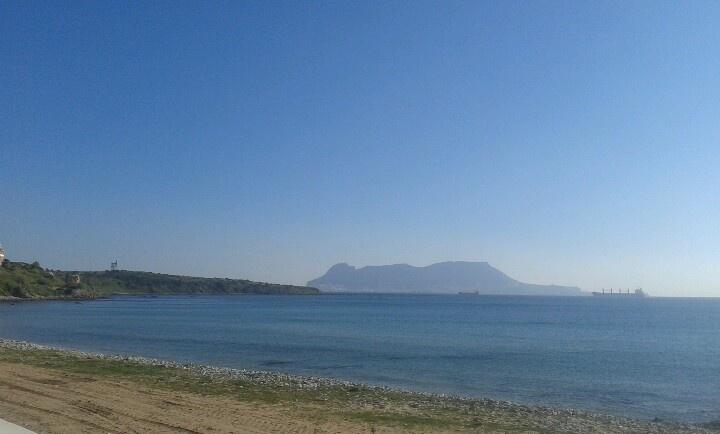 Gibraltar visto desde Algeciras