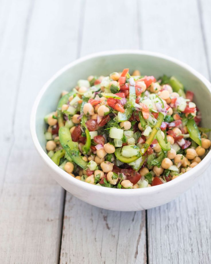 Frisse kikkererwten-salade