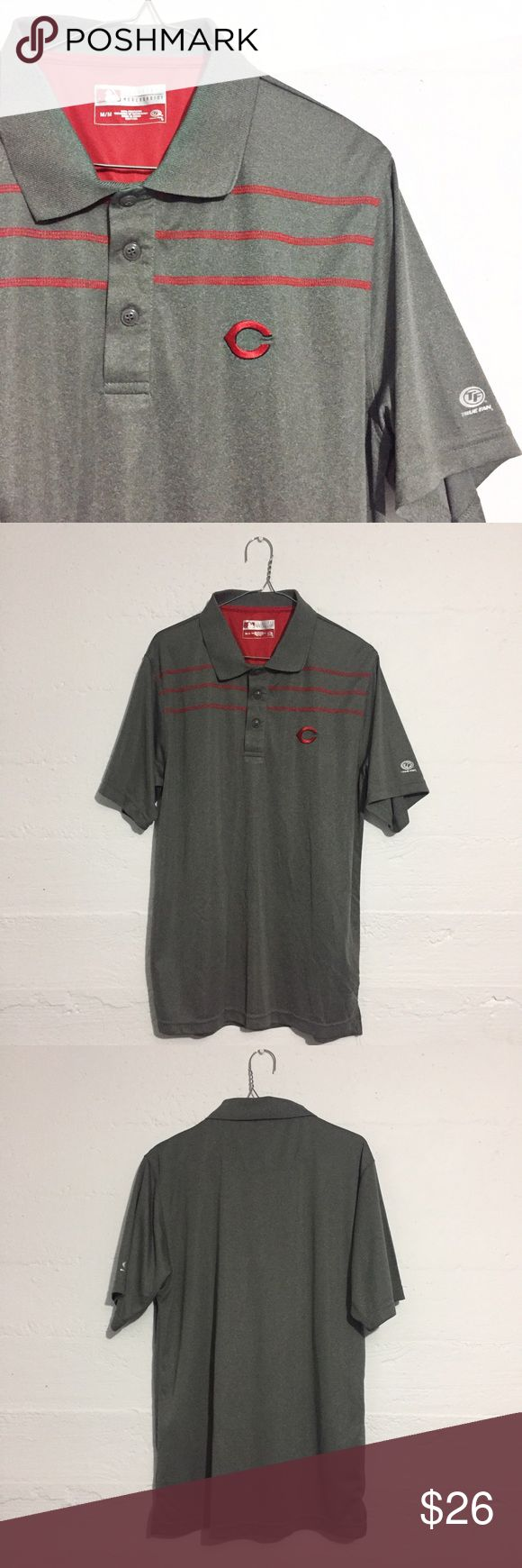 Cincinnati Reds Athletic Men's Polo Shirt Cincinnati Reds athletic polo shirt. Open to offers.  No trades. Shirts Polos