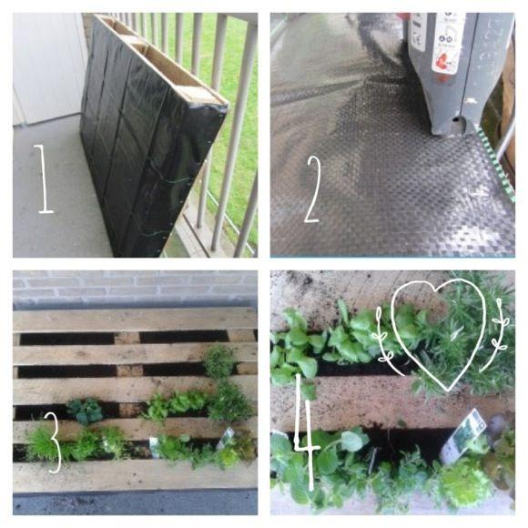 stap voor stap zelf verticale tuin maken van een pallet