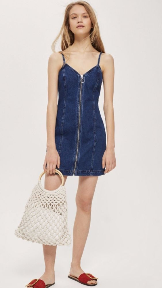 62001a5fa85e Topshop Zip Denim Dress Size 2  fashion  clothing  shoes  accessories   womensclothing  dresses (ebay link)