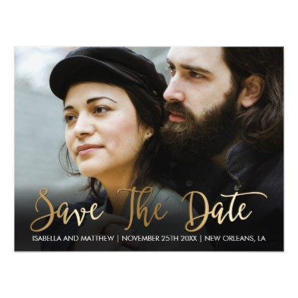 #engagement #party #invitations - #Personal Bronze Picture Save The Date Magnetic Card