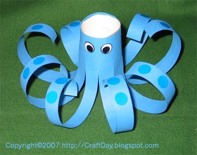 Octopus craft--with paper cups or maybe egg cartons