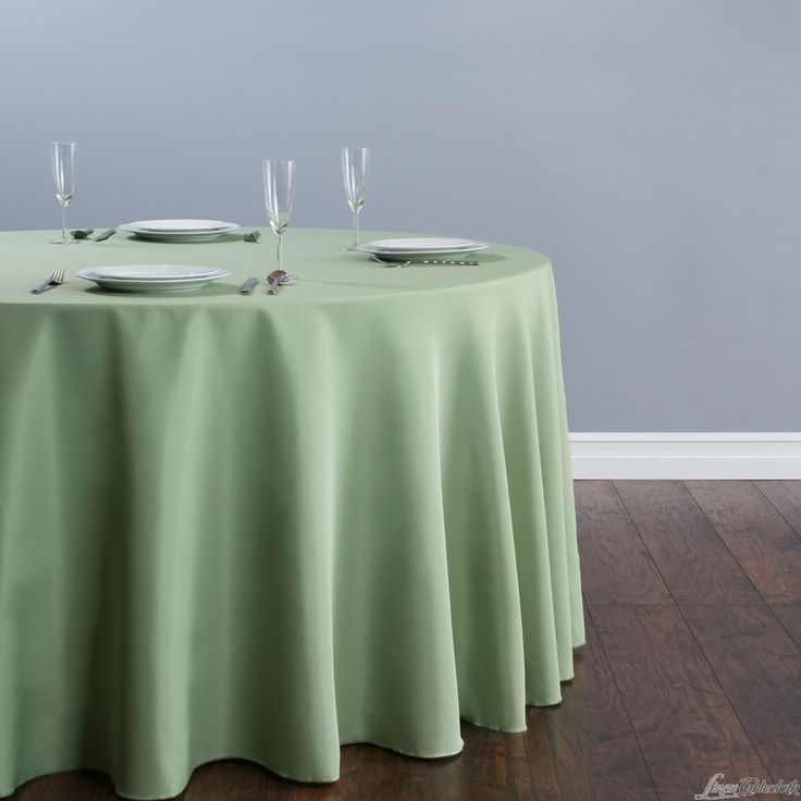 Round Polyester Tablecloth By Linentablecloth