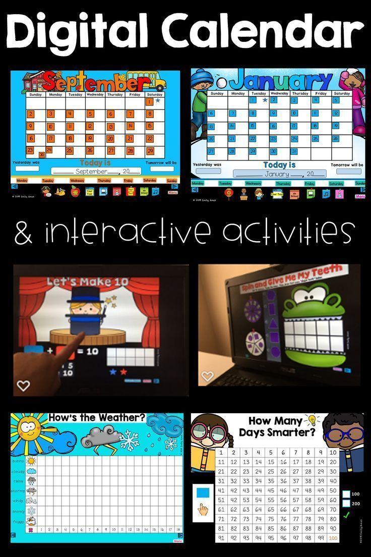 Digital Calendar Powerpoint Presentation Calendar Math And Ela