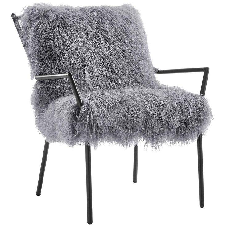 Lena Sheepskin Chair, Grey