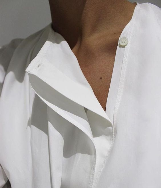 Details make a classic white shirt