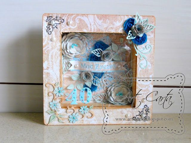 Art-Carta : Pudełko z kwiatami