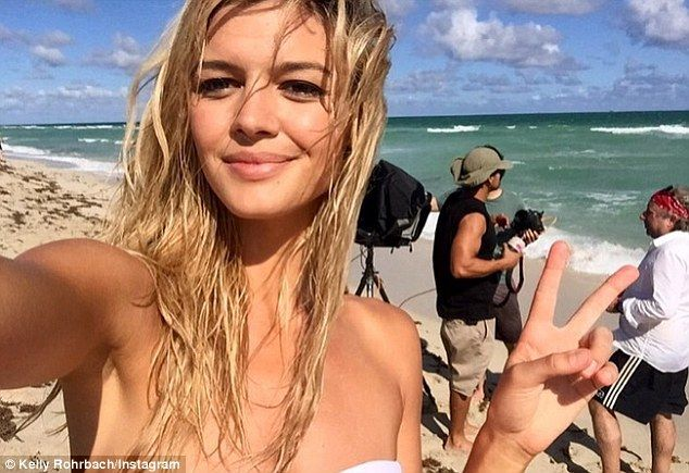 'Life's a beach!' The 25-year-old model - who fronts Calzedonia beachwear - hasn't been photographed with the Wolf of Wall Street star since November 10 in Venice Beach