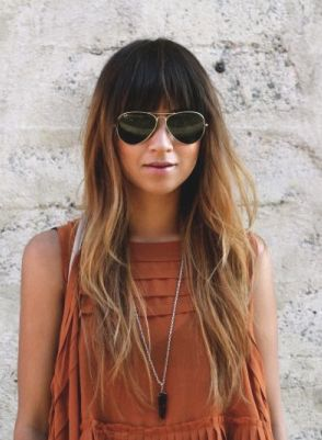 Ombre hair and a LuLu*s shirt? Lovely!