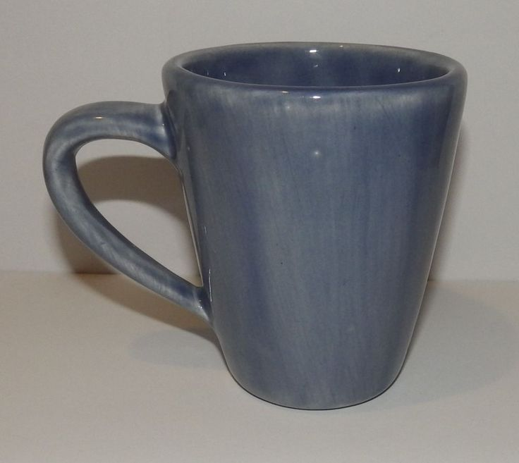 Pottery Barn Mug Slate Blue Heavy Coffee Cup Rustic Dishwasher Microwave Safe  #PotteryBarn