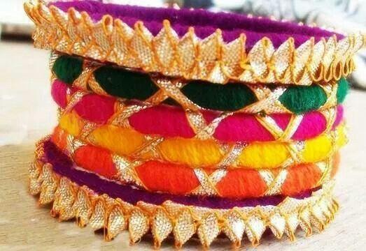 Traditional Gota bangles