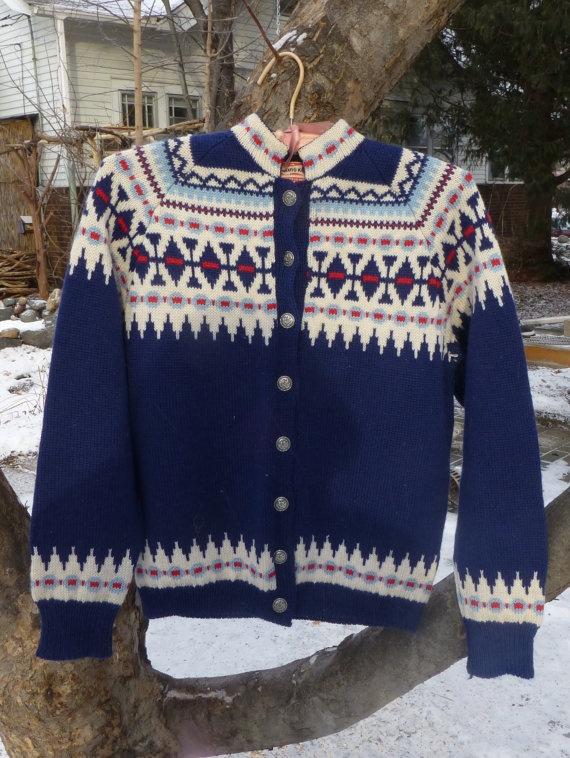 Vintage Wool Sweater  Viking Knits Handmade by QuantitiesofQuaint, $49.00