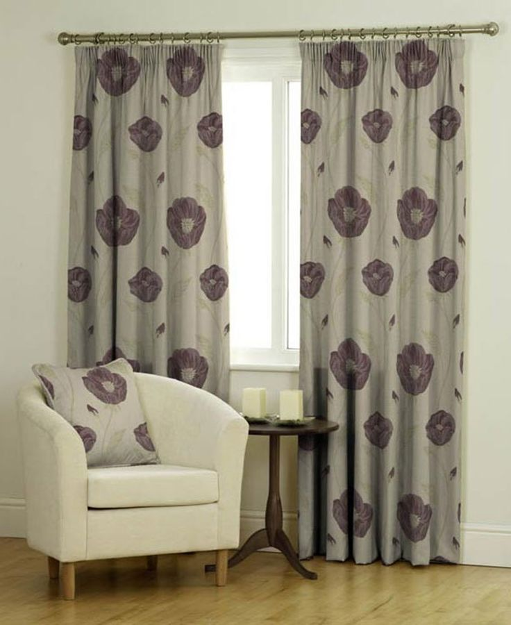 """Bonita (Plum), Purple Curtains, MADE TO MEASURE FOR EXACT FIT, Pencil Pleat (3"""" tape), Fully Lined, from 70cm width x 40cm drop to 366cm width x 380cm drop"""