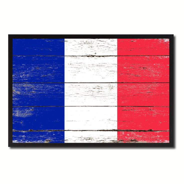 France Country National Flag Vintage Canvas Print with Picture Frame Home Decor Wall Art Collection Gift Ideas