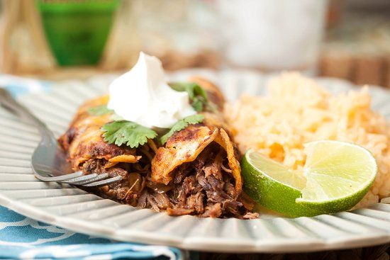 Tequila-Braised Short Rib Enchiladas