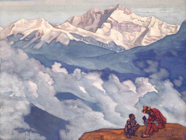 "Nicholas Roerich, ""Pearl of Searching,"" 1924 from His Country series. Nicholas Roerich Museum, New York."