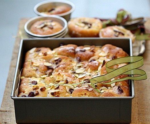 Apple Cranberry Almond Olive Oil Pull-Apart Loaf