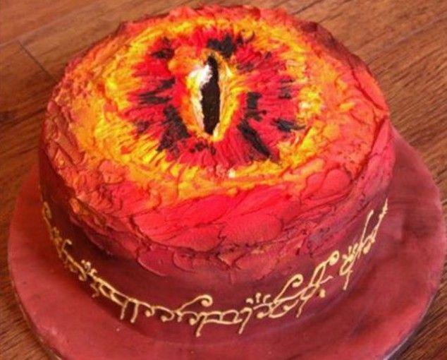 Incredible: Sauron Cake, Sauroncake, Cakes, Rings Cake, Food, Ring Cake, Birthday Cake, Lord Of The Rings, Eyes