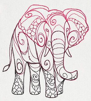 The Delicate Ones - Elephant - Thread List | Urban Threads: Unique and Awesome Embroidery Designs