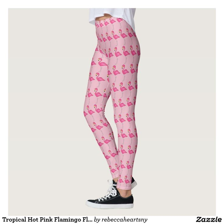 Tropical Hot Pink Flamingo Flamingos Bird Leggings