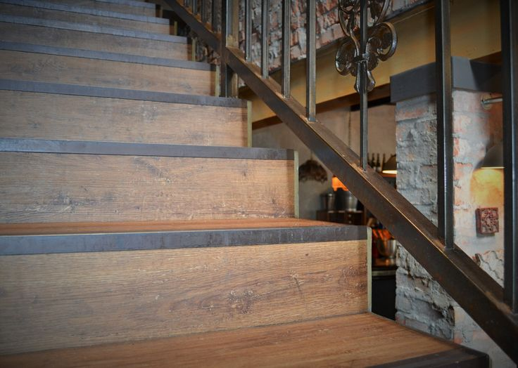 Rustic-look stair nosing to add a vintage appeal to your flooring.