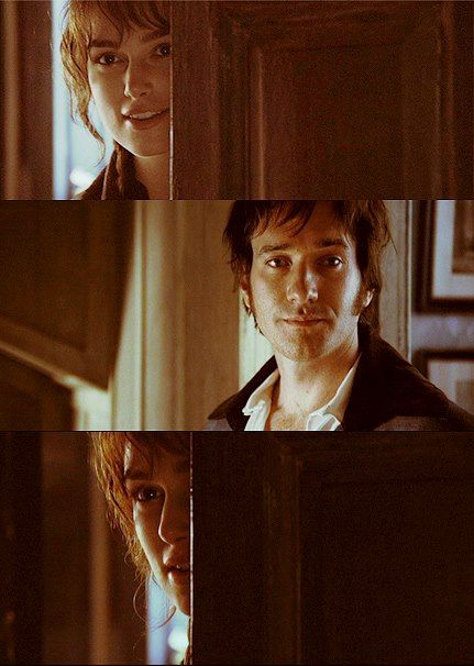 Pride and Prejudice - I love the expression on his face here.. And I love how they are speaking to each other through the eyes <3