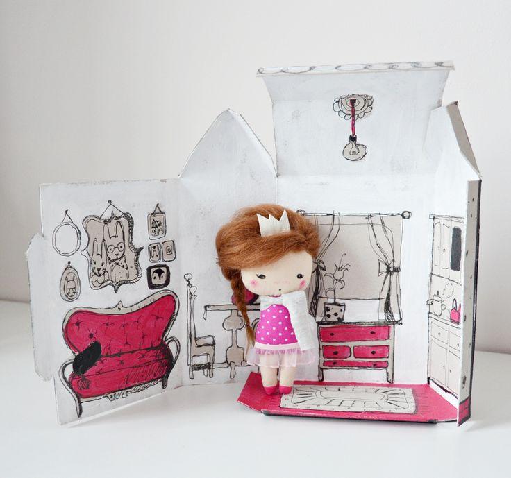 Małgorzata Kołaczyńska-Strzelecka, Zabawkarstwo,  http://polandhandmade.pl #polandhandmade, #doll, #pocketdoll, #domek dla lalek,