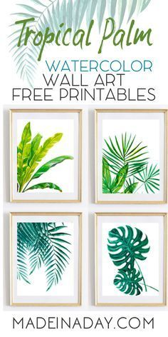 Looking For Tropical Palm Watercolor Wall Art Printables For You Home Decor? pal
