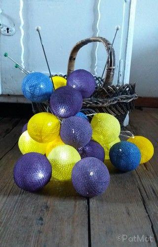 cotton ball light #diy violet