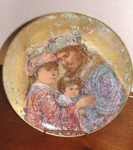 Edna Hibel David,bathsheba,solomon Collector Plate ** Check this awesome image  : Commemorative Plates