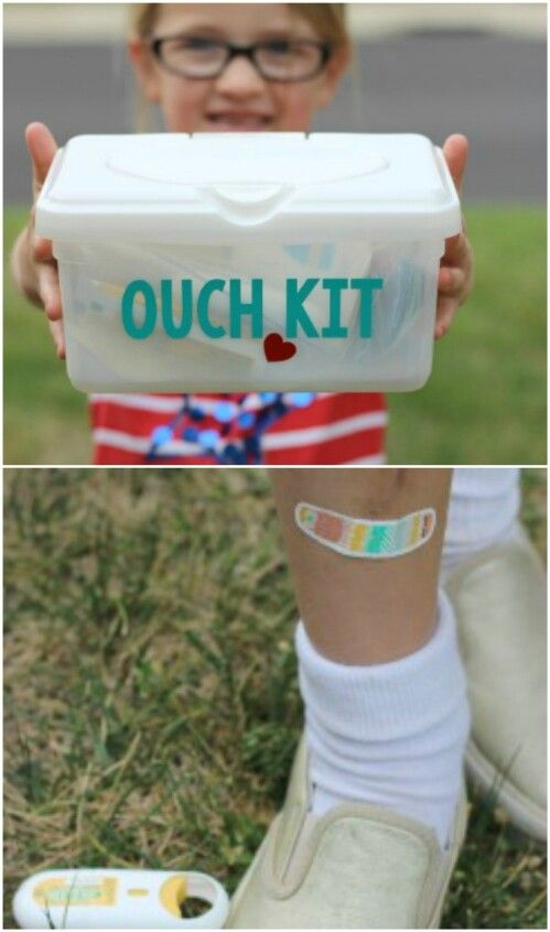 Legos in the car box 30 ways to use empty BABY WIPE boxes First Aid Kit
