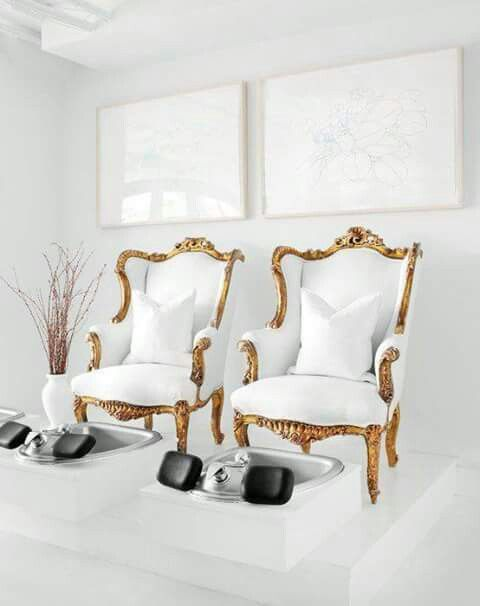 Sillones peluquer a pinterest sillones sal n y for Ab nail salon sarasota