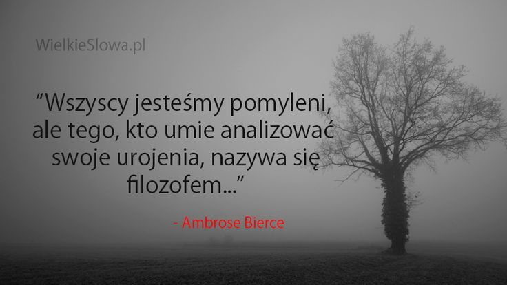 Wszyscy jesteśmy pomyleni... #Bierce-Ambrose-Gwinnett,  #Filozofia